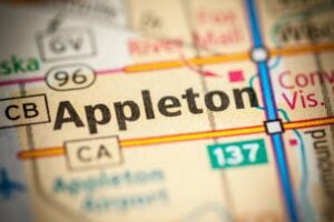 Appleton Wisconsin on Map