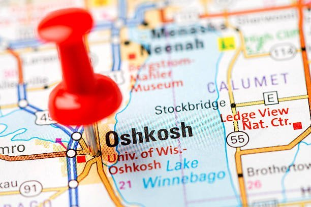 Oshkosh on Map