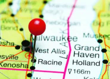 Racine condo on map