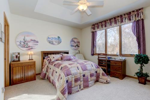 Spacious master suite with California Closets