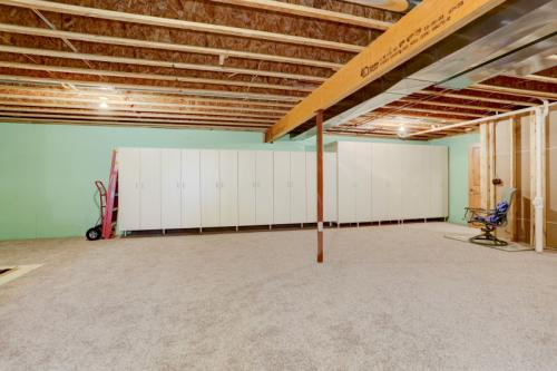 HUGE carpeted basement could be additional space for hobbies and no doubt storage!